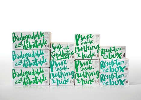 Organic Feminine Hygiene Products - The Oi Sanitary Product Branding is Focused on Being Educational
