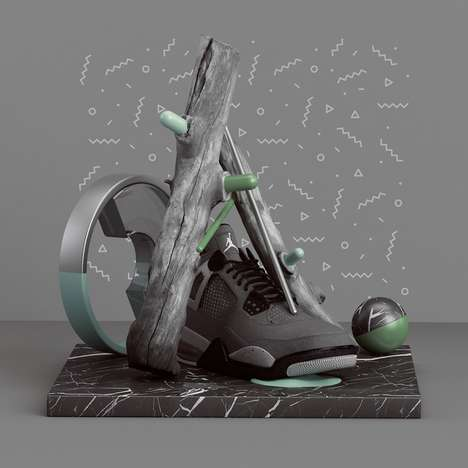 3D Random Object Art - Polish Graphic Designer Peter Tarka Gives New Meaning to 'Randomness'