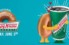 Celebratory Donut Giveaways - The New Krispy Kreme Promotion Celebrates National Donut Day 2016