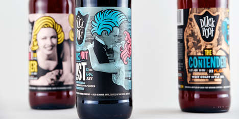 Vintage Graphic Beer Branding - This Beer Puts a Quirky Vintage Twist on Its Packaging