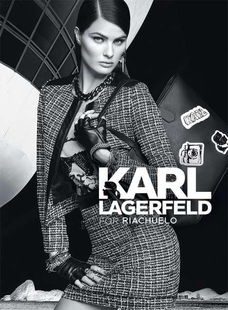 Rebel Chic Fashion Ads - Isabeli Fontana Stars in Karl Lagerfeld's Riachuelo Fall/Winter Campaign