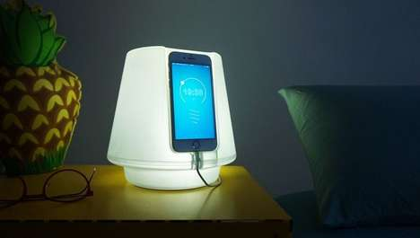 Smartphone-Reliant Lamps - The UpLamp Smartphone Lamp Does Not Require a Light Bulb