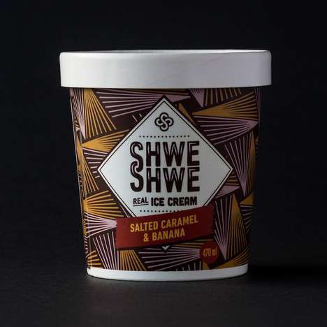 African Ice Cream Packaging - Shwe Shwe Boasts Patterned Branding for Each of the Five Flavors