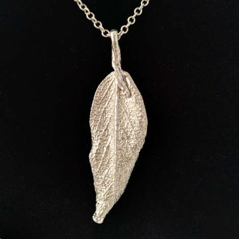 Sage Leaf Necklaces - These Necklaces are Hand Cast From Individual Sage Leaves
