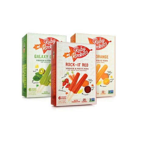 Probiotic Puree Popsicles - Ruby Rockets are Powered by Fruits, Veggies and Dairy-Free Probiotics
