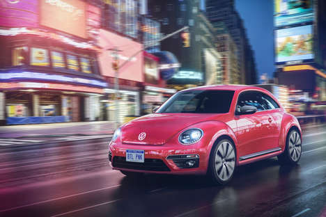 Social Media-Inspired Cars - Volkswagen's #PinkBeetle is Named After Its Own Hashtag