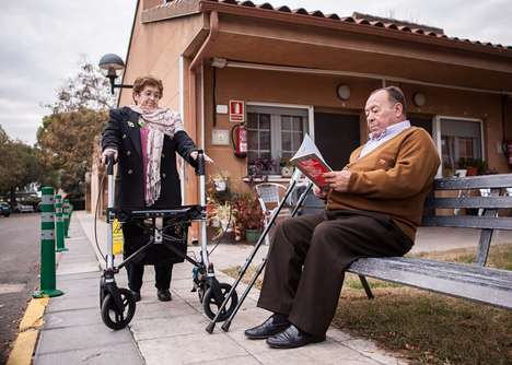 Social Media-Connected Walkers - The 'FriWalk' Mobility Walker Adds Health Monitoring and More