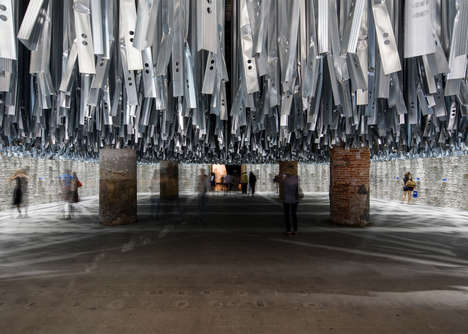 Upcycled Architecture Exhibits - This Exibit at the Venice Biennale Uses 100 Tons of Recycled Waste