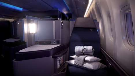 Luxurious Business Class Cabins - United Airlines Has Revealed Its Revamped Business Class Cabins