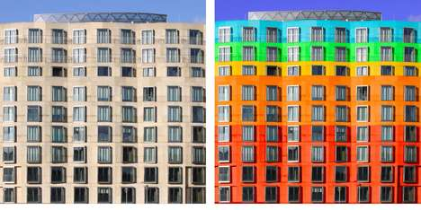 Rainbow Architecture Photography - Paul Eis Reimagined Architecture with Multi-Colored Accents
