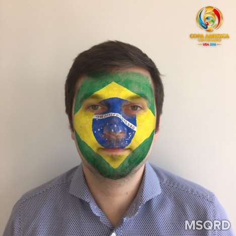 Face-Painting Photo Filters - Facebook's Photo Overlay Tool Helps Fans Celebrate a Soccer Tournament