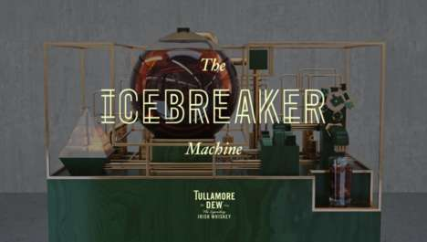 Ice-Breaking Interactive Bars - The Icebreaker Machine Customizes Drinks to Start Conversations