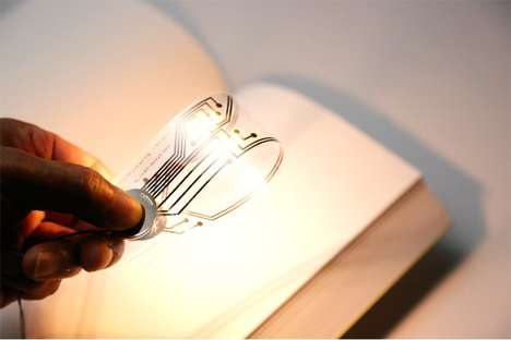 Paper-Thin Book Lights - The Kyouei Illuminated Bookmark Provides Illumination Whilst Reading