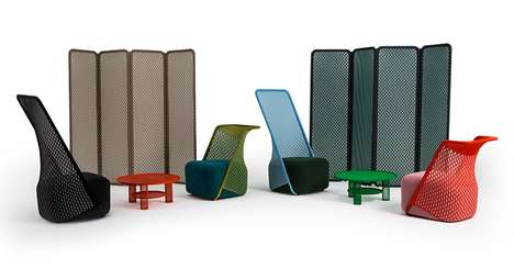 Stretched Fabric Furniture - Benjamin Hubert's Cradle Collection Utilizes Three Dimensional Material