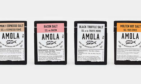Gourmet Food-Flavored Salts - The Amola Salts Opt for Unlikely Aromas Such as Bacon and Espresso
