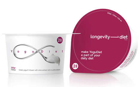 Protein Yogurt Packaging - The Longevity Diet Foods Healthy Dairy Products Support Active Lifestyles