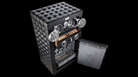Cushioned Citadel Safes - The Doettling 'Fortress' Valuable Box Opts for a Luxe Leather Exterior