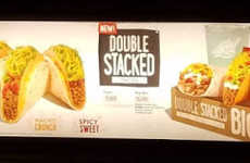 Layered Taco Combinations - The New Double Stacked Tacos Feature Both a Hard Shell and Soft Tortilla