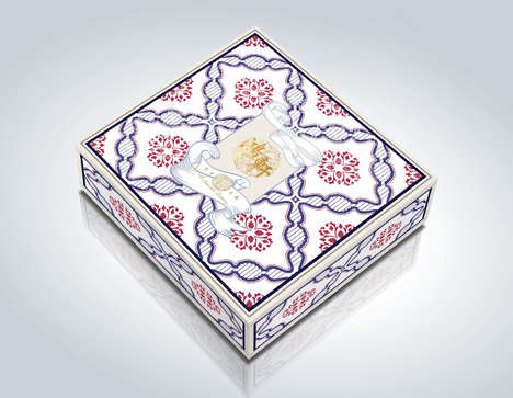 Cultural Dessert Packaging - These Mooncake Boxes are Inspired by the Art of Ancient China