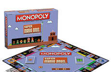 Video Game Board Games - The Super Mario Bros Classic Monopoly Gives the Game an 8-bit Spin