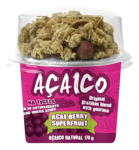 Sorbet Granola Snacks - 'Acaico' is a Portable Acai Bowl Snack Paired with Crunchy Granola Toppings