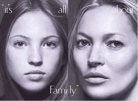 Multi-Generational Magazine Covers - This Kate Moss Vogue Cover Celebrates Family Values