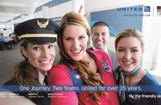 Olympian Selfie Billboards - United Airlines' Olympic Ads Photograph Staff and American Athletes
