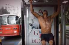 Bus Shelter Gyms - Reebok Transformed Bus Stop Ads into Temporary Outdoor Gyms