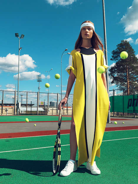 Tennis-Themed Editorials - GAME. SET. MATCH. by Igor Oussenko is Captured for Fashion Magazine