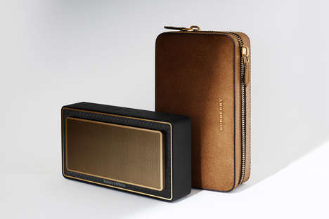 Luxe Portable Speakers - Bowers & Wilkins and Burberry Collaborated to Make a Bluetooth Speaker