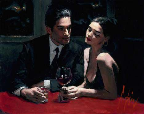 Romantic Couple Paintings - This Fabian Perez Art Interprets Romantic Relationships Stylistically