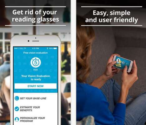 Vision-Improving Mobile Apps - The GlassesOff App Reduces One's Need for Reading Glasses