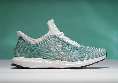 Upcycled Plastic Shoes - These Blue Adidas Sneakers are Made from Ocean Garbage