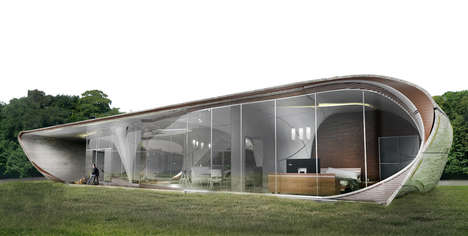 3D-Printed Home Concepts - This 3D-Printed Freeform House Maximizes Curb Appeal