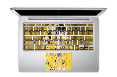 Artistic Keyboard Stickers - These Keyboard Stickers are Perfect for the Artistically Inclined