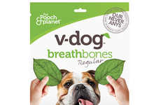 Plant-Based Dog Bones - V-dog's 'Breathbones' are Made Without Animal Products, Soy and Gluten