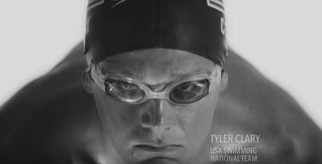 Olympic Chocolate Milk Campaigns - The New 'Built with Chocolate Milk' Ad Features Olympic Swimmers