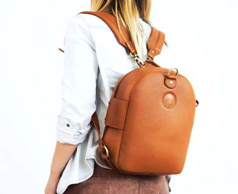 Versatile Leather Backpacks