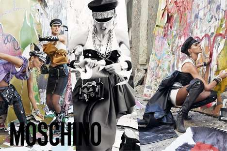 Violently Rebellious Fashion Ads - The Moschino Fall/Winter Campaign Embraces Radical 90s Style