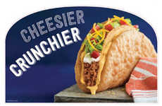 Fried Cheese-Filled Tacos - The New Cheesy Chalupa Crunch Features a Fried Chalupa Shell