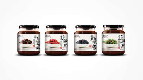 Narrative Condiment Packaging - The Hui Shang Spice and Sauce Packaging Spotlights Fresh Ingredients