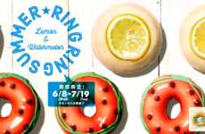 Punny Summer Donut Menus - The New 'Ring Ring Summer' Donuts are Inspired by Round Fruits