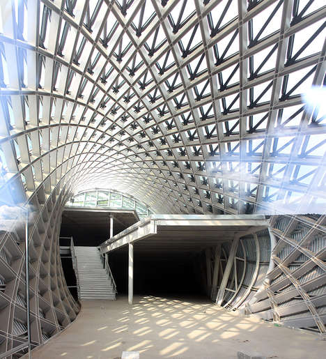 Tube-Shaped Theater Buildings - Fuksas Created an Unconventional and Futuristic Exhibition Space