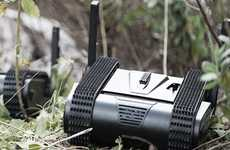 Armed Combat Robots - The 'Dogo' Robot from Israel General Robotics Climbs Stairs and More