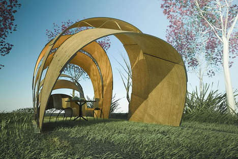 Whimsical Tea Pavilions - These Armadillo-Inspired Canopies Create a Versatile and Comfortable Space