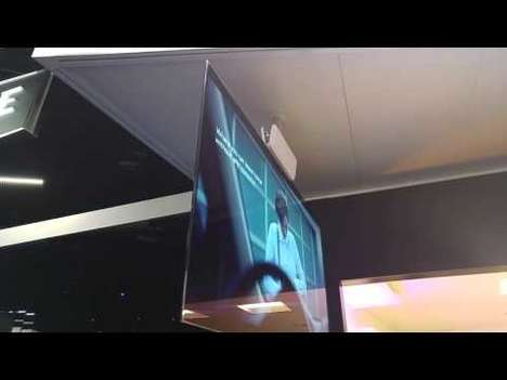 Dual-View OLED Displays - The LG Dual-View Flat Television is Comprised of Flexible Fiber Sheets