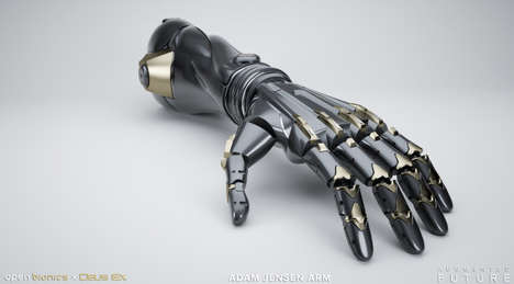 Bionic Gaming Hands - The Deux Ex Arm Turns the Virtual Cyberpunk Universe into a Gaming Accessory