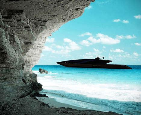 Sleek Luxury Superyachts