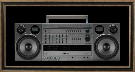 Functional Boombox Posters - Case of Bass' 'Touch of Bass' Music Posters Feature Built-In Speakers
