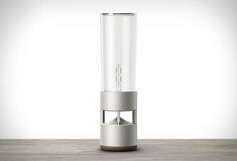 Illuminating Glass Speakers - The Sony Glass Sound System Utilizes Light and Audio into One Device